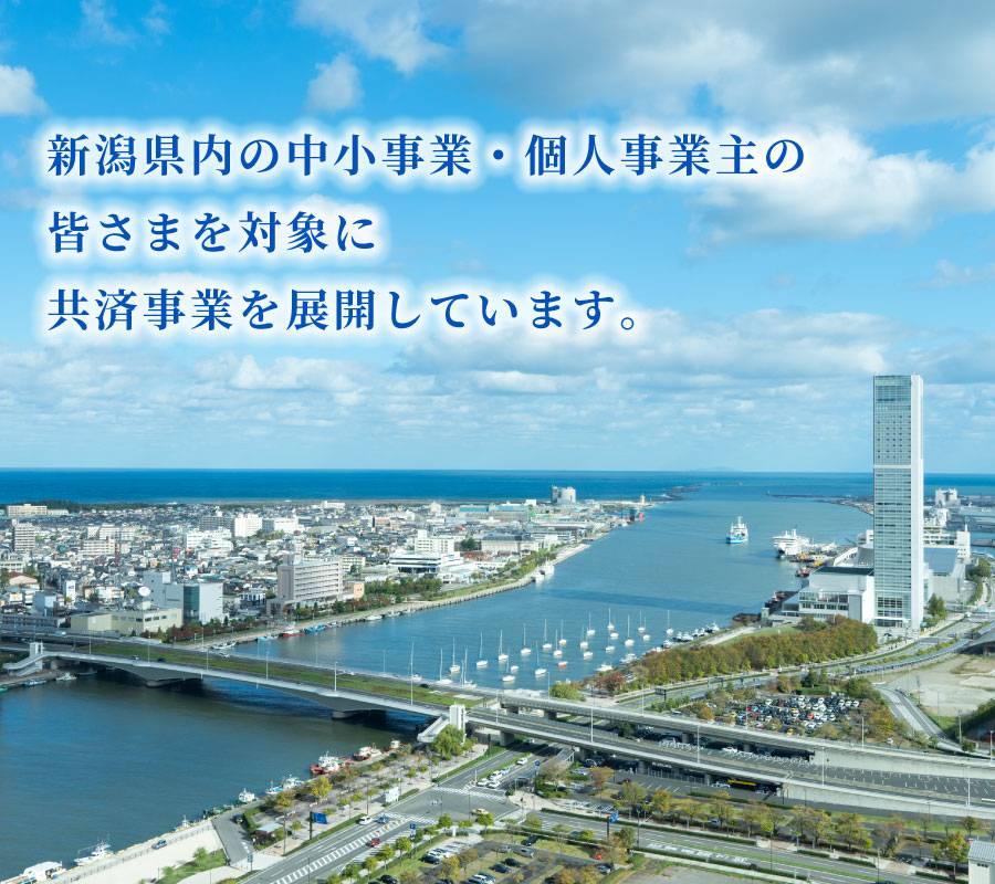 新潟県内の中小事業・個人事業主の皆さまを対象に共済事業を展開しています。